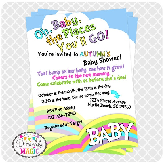printable baby shower invitation oh the places by dreamlikemagic 15