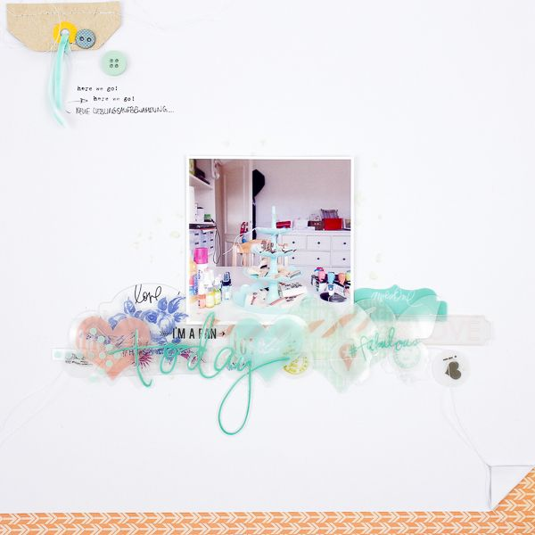 Janna Werner: 2 scrapbooking pages, layout for Citrus Twist Kits