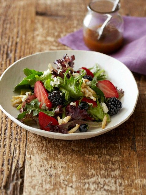 Let's Talk Salad, Triple Berry Salad with Sugared Almonds