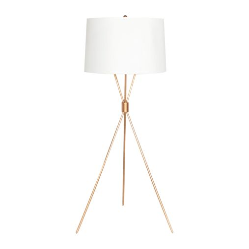 mitchum g gold leaf tripod floor lamp with 2 60w sockets and pull. Black Bedroom Furniture Sets. Home Design Ideas