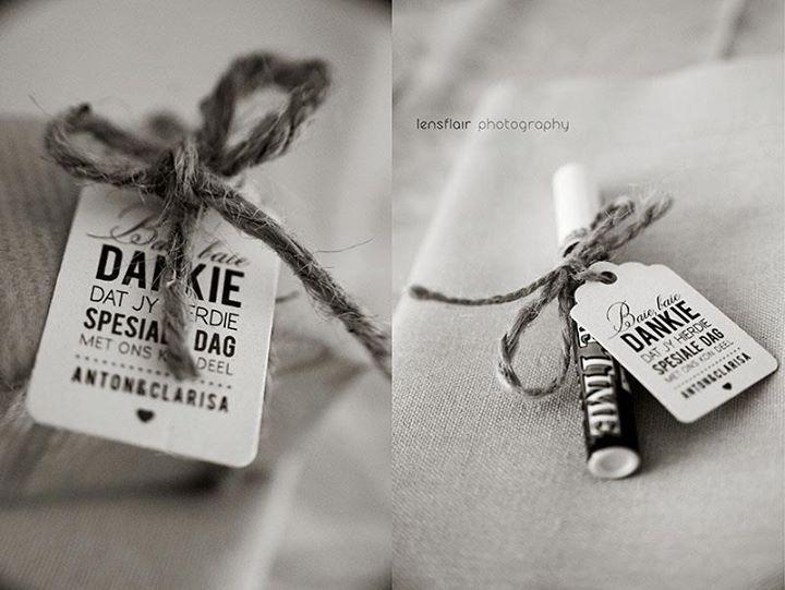 Thank you gift Our Wedding Ideas Pinterest