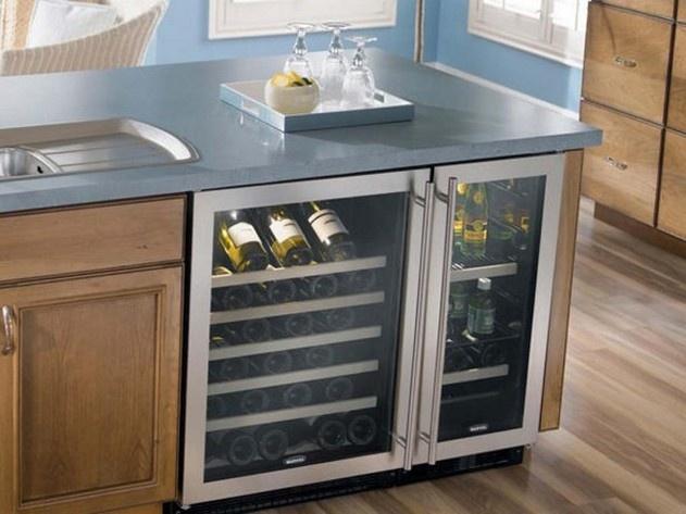 Wine refrigerator in kitchen island Dream Home