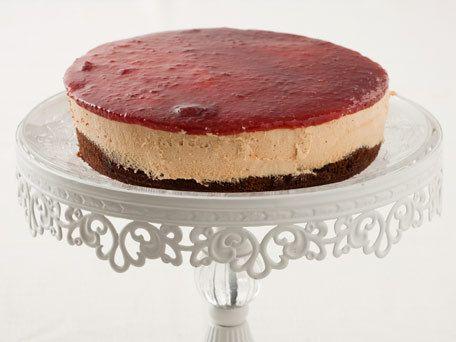 Chocolate Caramel Raspberry Mousse Cake...Make GF?