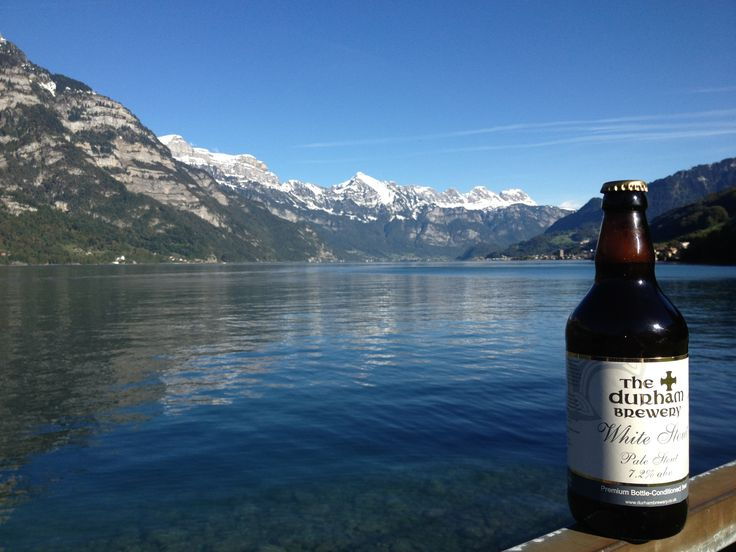 white stout on the walensee looking at the churfisten mountain range