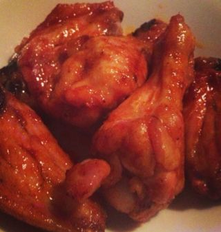 Honey Sriracha Wings by The Cave Girl Dish. Perfect for basketball ...