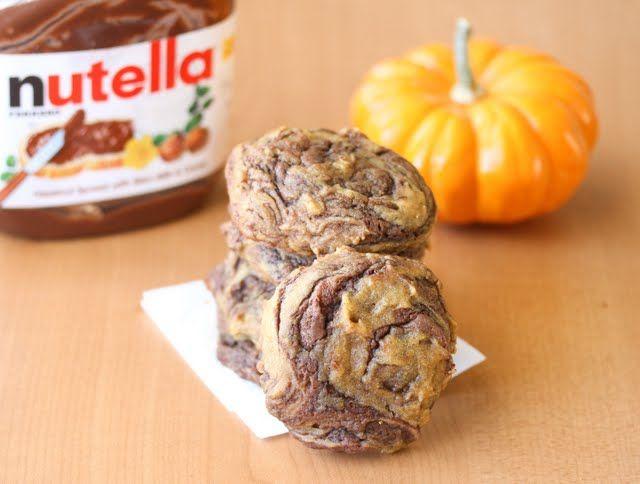 Pumpkin Nutella Swirl Cookies | Kirbie's Cravings | A San Diego food ...