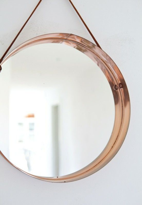 Copper mirror linda hollywood pinterest Round framed mirror