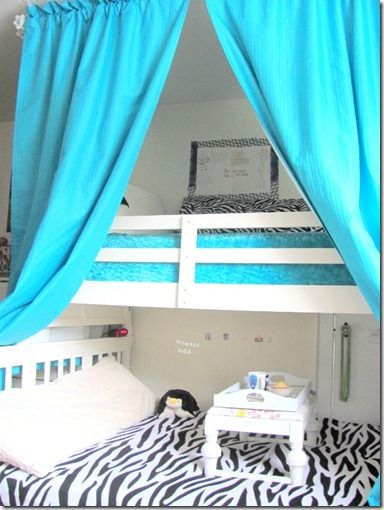 Curtains Over Bunk Bed For The Home Pinterest