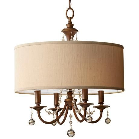"Murray Feiss Clarissa 21"" Wide Firenze Gold Pendant Light - via Lamps Plus"