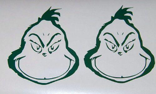 Grinch vinyl decals