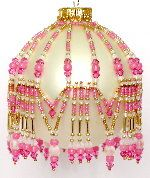 October Pink Tourmaline and Opal Ornament Pattern by Deb Moffett-Hall aka Patterns to Bead