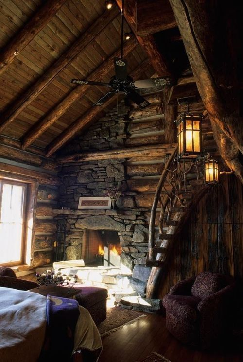 Beautiful Rustic Cabin House Home Pinterest