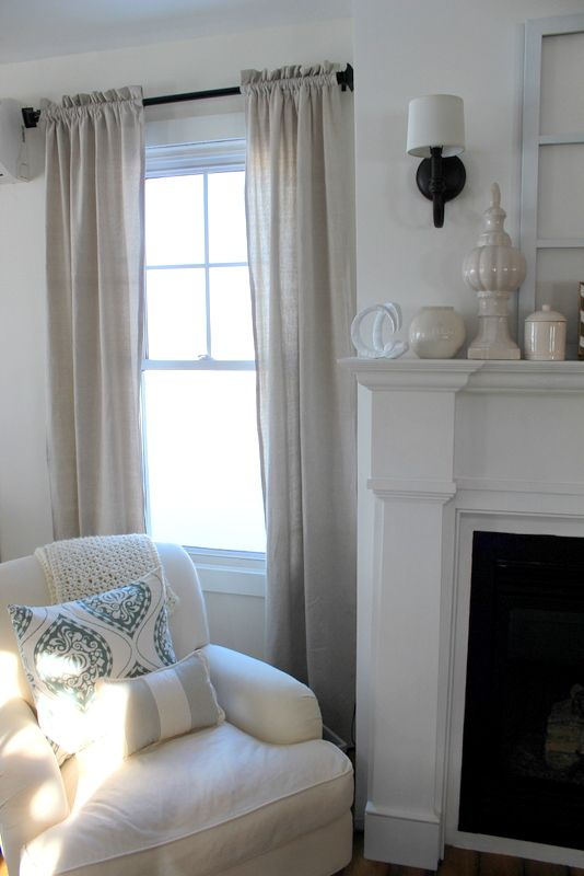 Diy Drop Cloth Curtains For The Home Pinterest