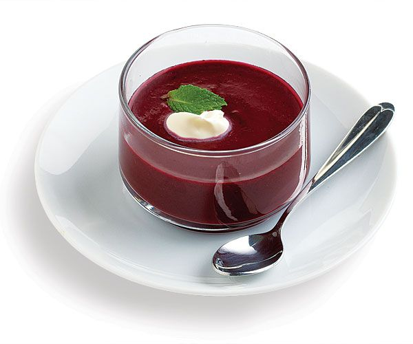 Wild Blueberry Soup with Mint | Recipe