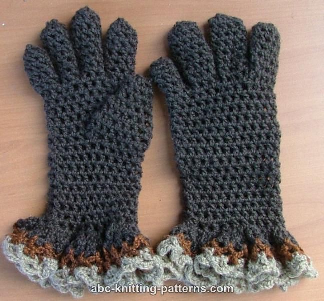 Free Patterns Crochet Gloves : crochet pattern - gloves with ruffle Crocheted Hats and ...