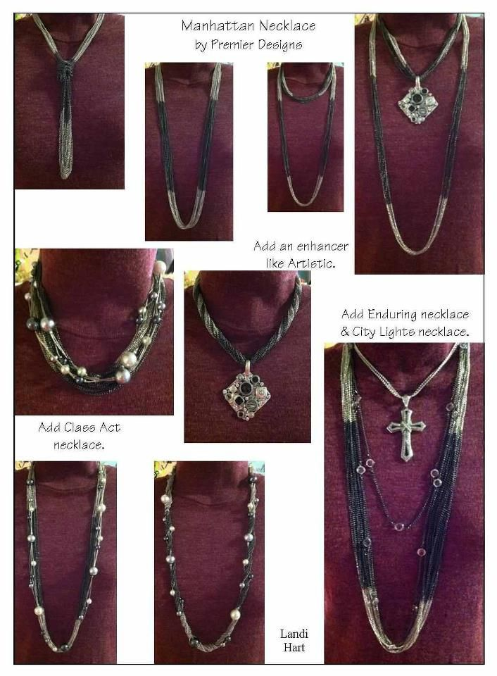 More ways to wear the Manhattan necklace.