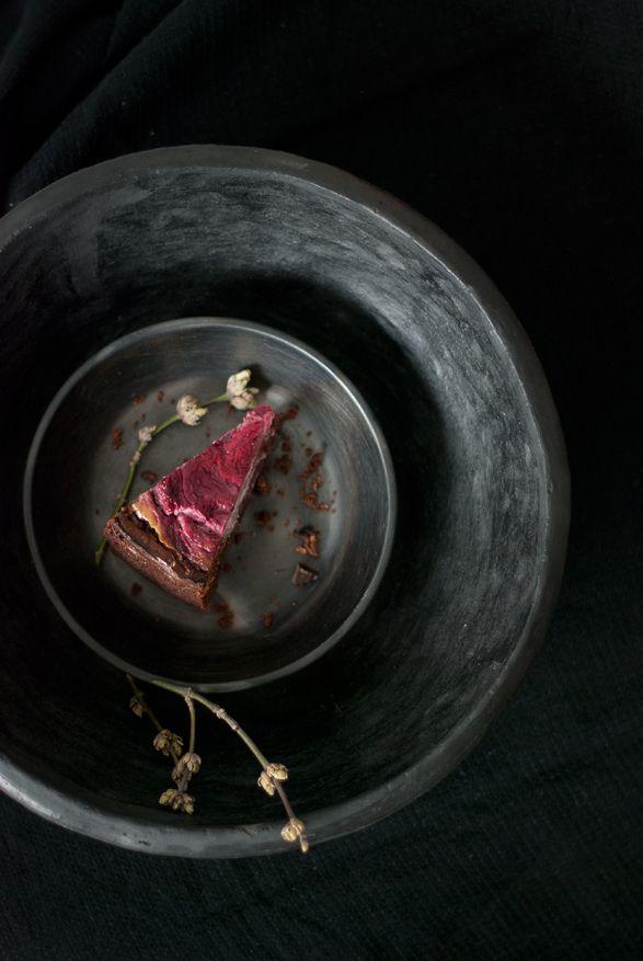 Dark Chocolate Brownie Cake with Raspberry Goat Cheese Swirl (by Egle ...