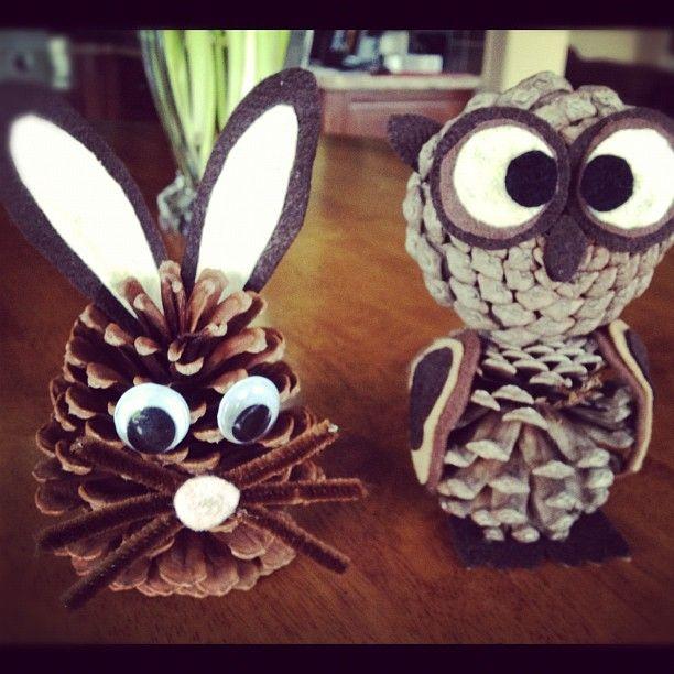 Pine cone animal friends children s crafts pinterest