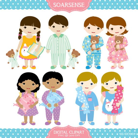 Slumber Party Clipart by soarsense on Etsy, $5.00