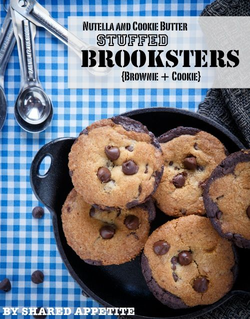 Nutella and Cookie Butter Stuffed Brooksters {Brownie + Cookie} - by ...
