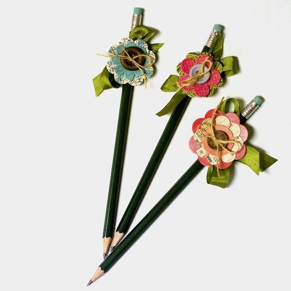 Flower pencils craft ideas pinterest