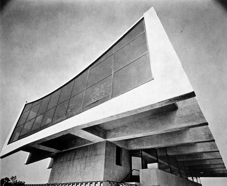 Enrique de la Mora, Alberto González Pozo y Leonardo Zeevaert: Edificio para Seguros Monterrey, Polanco, México D.F., 1960-62 (detalle)    (Source: icaronycteris). @designerwallace
