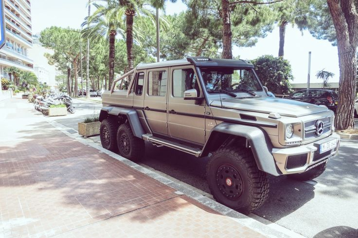 G wagon 6x6 in monaco mercedes benz pinterest for Mercedes benz g wagon 6x6