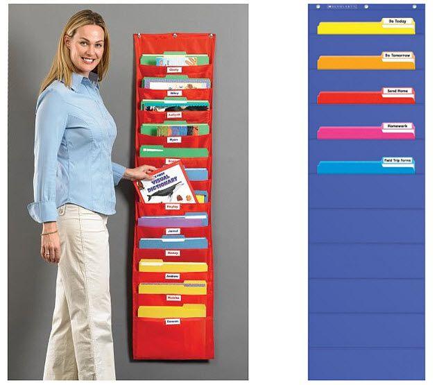 Wall hanging file organizer