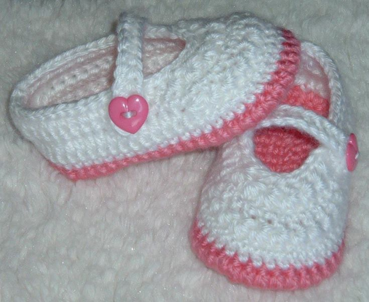 Magnificent Crochet Baby Mary Jane Slippers Free Patterns Image