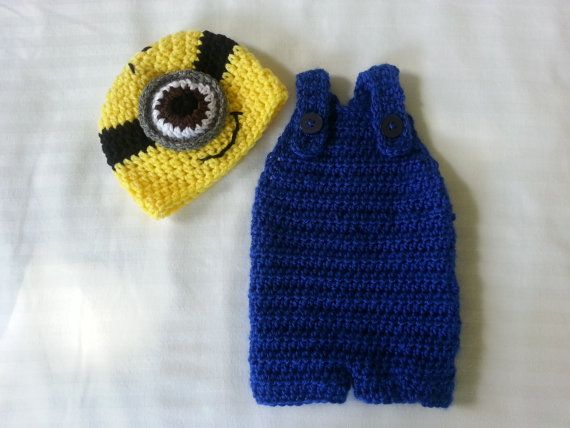 Free Crochet Pattern Minion Overalls : Crochet Minion Hat and Overalls Set Despicable by ...