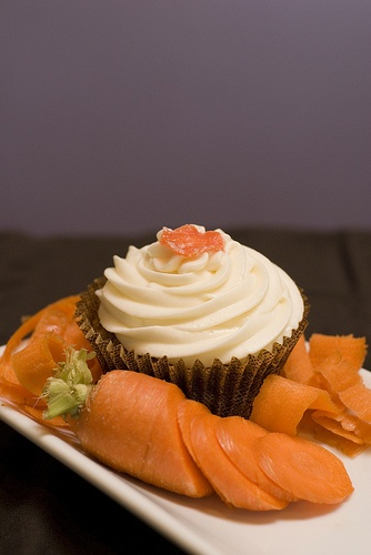 ... carrot cake filled with vanilla bean pastry cream, topped with cream