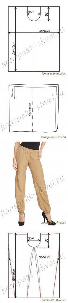 Из какой ткани сшить брюки женские своими 405