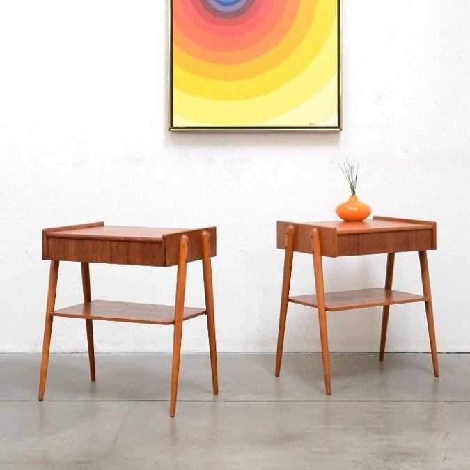 Best Scandinavian Modern Teak Nightstand Bedside Tables Mid 400 x 300