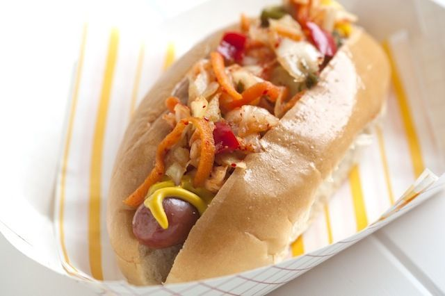 Hot Dogs with Kimchi Relish | Food and Snacks | Pinterest