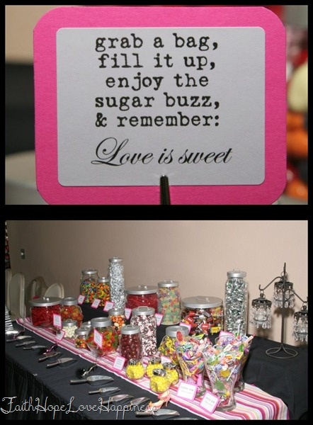 Wedding Gift Poem Living In Sin : Wedding Candy Buffet and Poem by FaithHopeLoveHappiness.blogspot.com