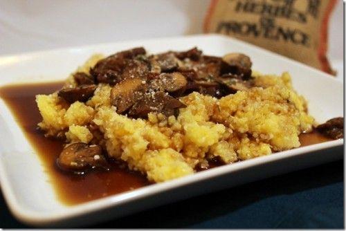 ... mushrooms seared steak and mushrooms on polenta creamy polenta creamy