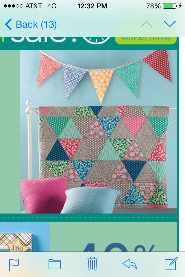 Quilt pattern from JoAnnes