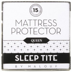 #3: SLEEP TITE by Malouf Mattress Protector - 100% Waterproof-Eliminates Dust Mites -15 Year Warranty.