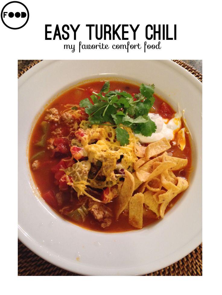 Easy turkey chili | Cuppa Soup | Pinterest
