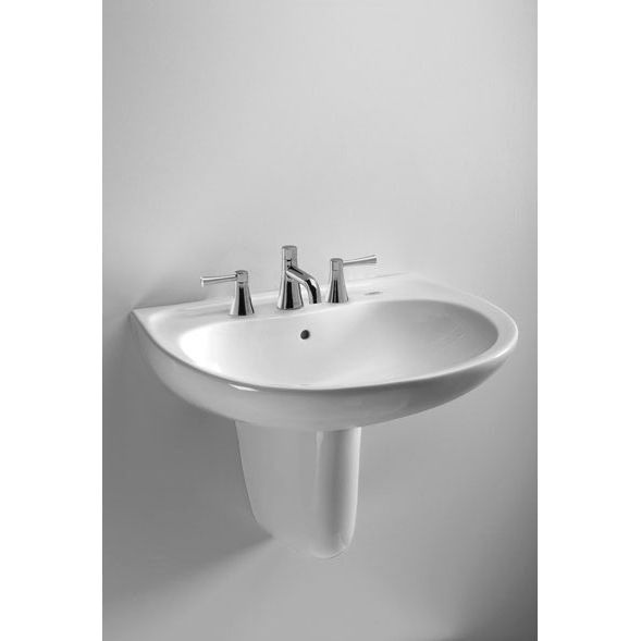 Toto Supreme Wall Mount Bathroom Sink with 4