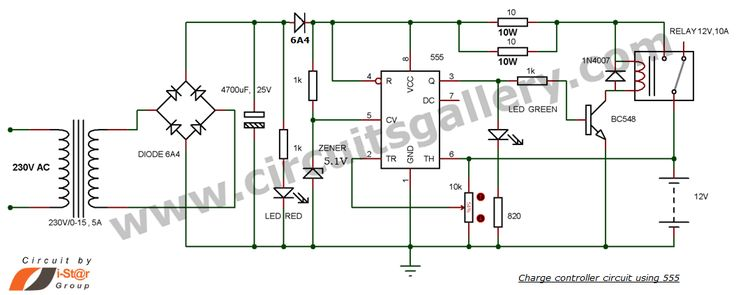 12v Battery Charger Circuit With Auto Cut Off Do Nghe Pinterest Charger And Autos