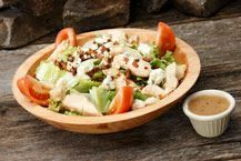 The Wobbs Salad :Crisp romaine, smoked bacon, grilled chicken, vine ...