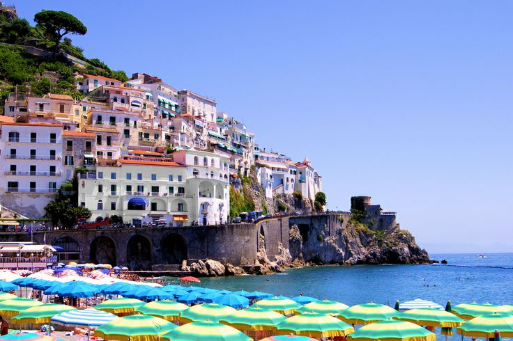 Sorrento, Italy overlooks the Bay of Naples.