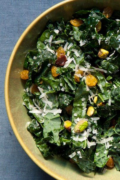 Easy Eats - Recipe: Raw Kale Salad with Pistachios and Golden Raisins