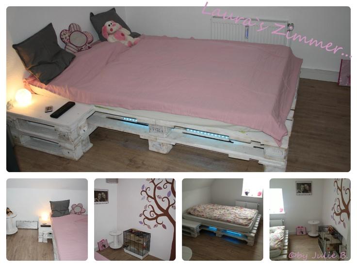 palettenbett sweet home pinterest. Black Bedroom Furniture Sets. Home Design Ideas