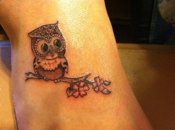 owl on a branch owl sitting on branch tattoo owlet sitting on branch ...