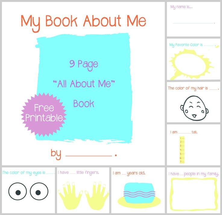 All About Me Book | Mae B Baby! | Pinterest