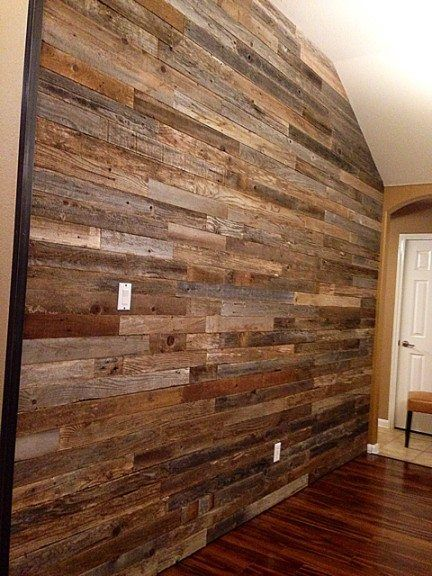 Reclaimed wood wall.  Jager (Bedroom) Ideas & Stuff  Pinterest