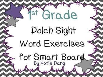 activities Dolch sight or board First for grade Grade  1st SMART  Word word Activities for Sight Promethean