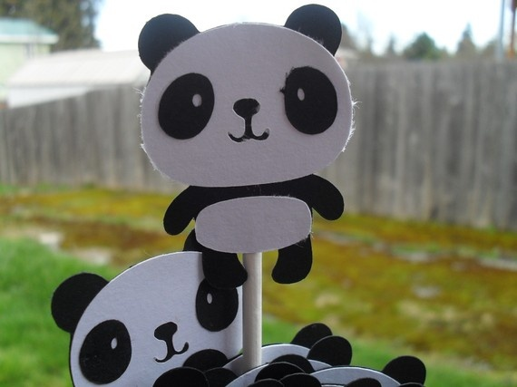 panda baby shower cupcake toppers baby shower ideas pinterest